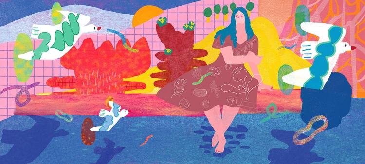Meditation - drawing, painting, illustration - draw_spring | ello