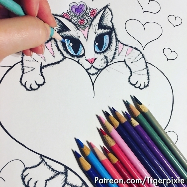 Patreon Perks! Coloring Pages!  - tigerpixie | ello