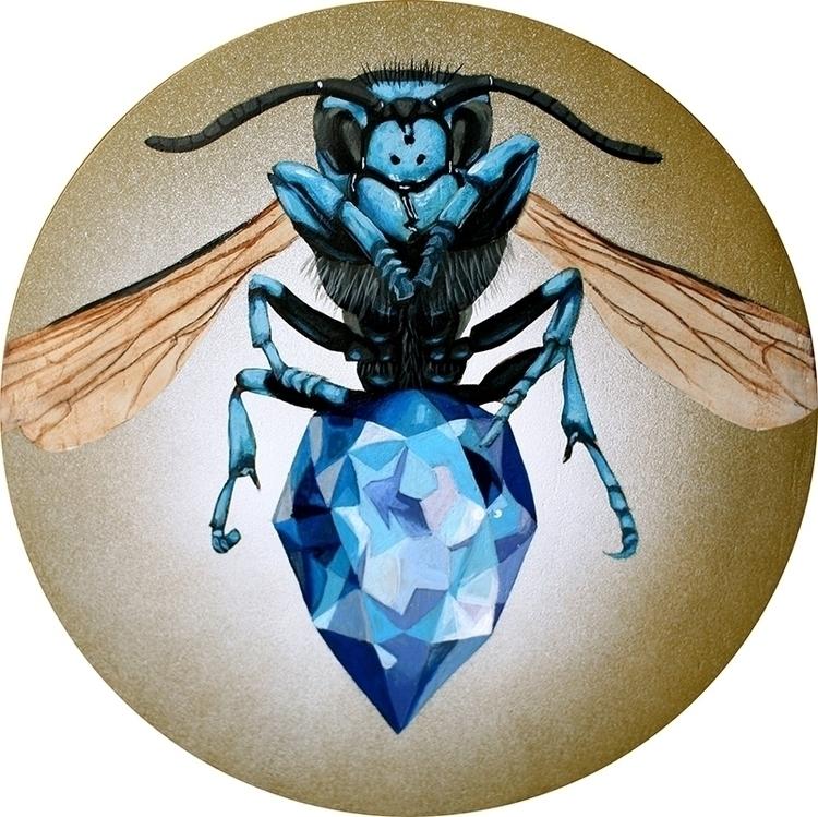 Sapphire, 10x10 acrylic panel.  - bowenstuff   ello