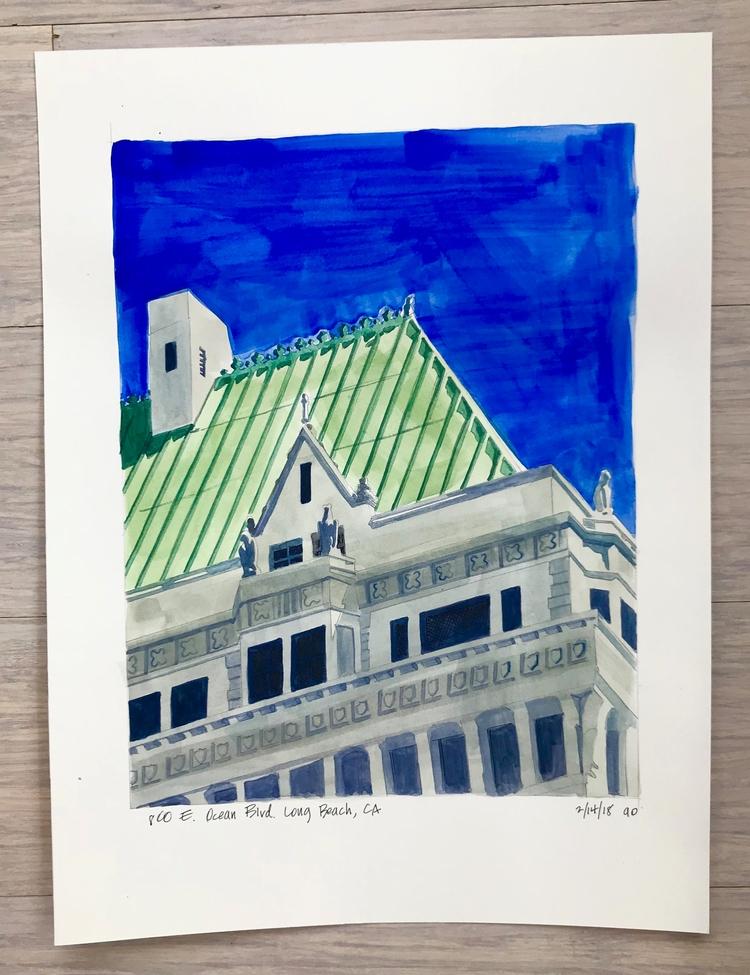 beautiful building Long Beach,  - angela_oliver_art | ello