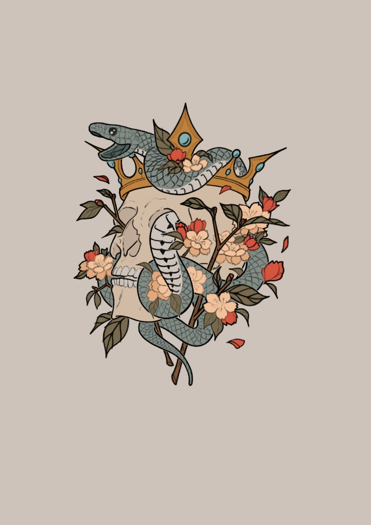 illustration, tattoo - 3-3-3 | ello