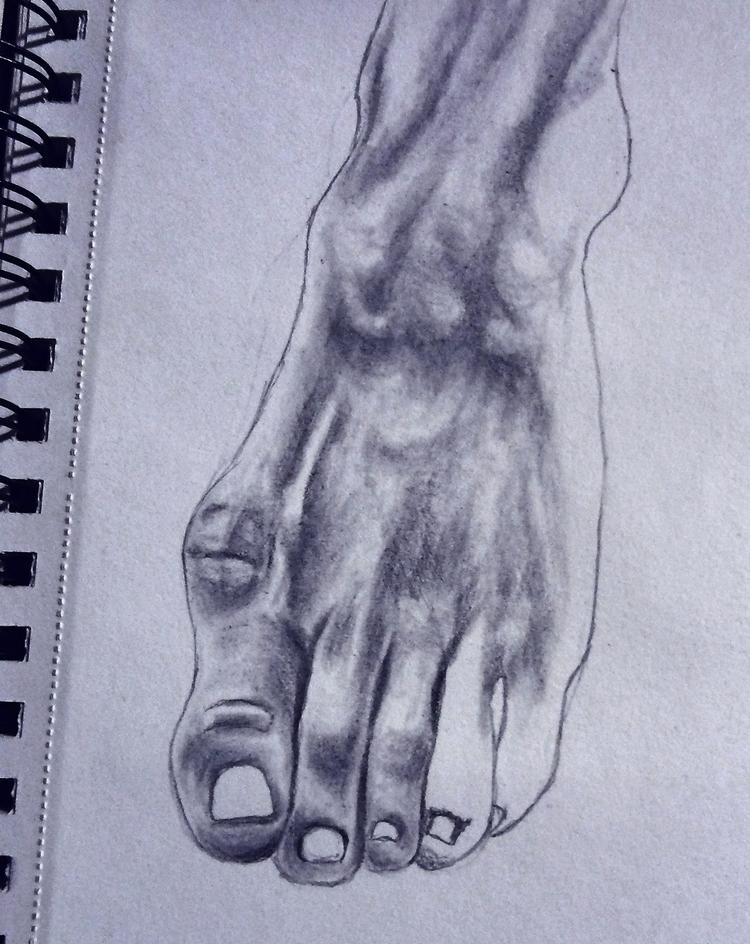 WIP foot study Graphite, 2018 - anatomy - clovecigarettes | ello