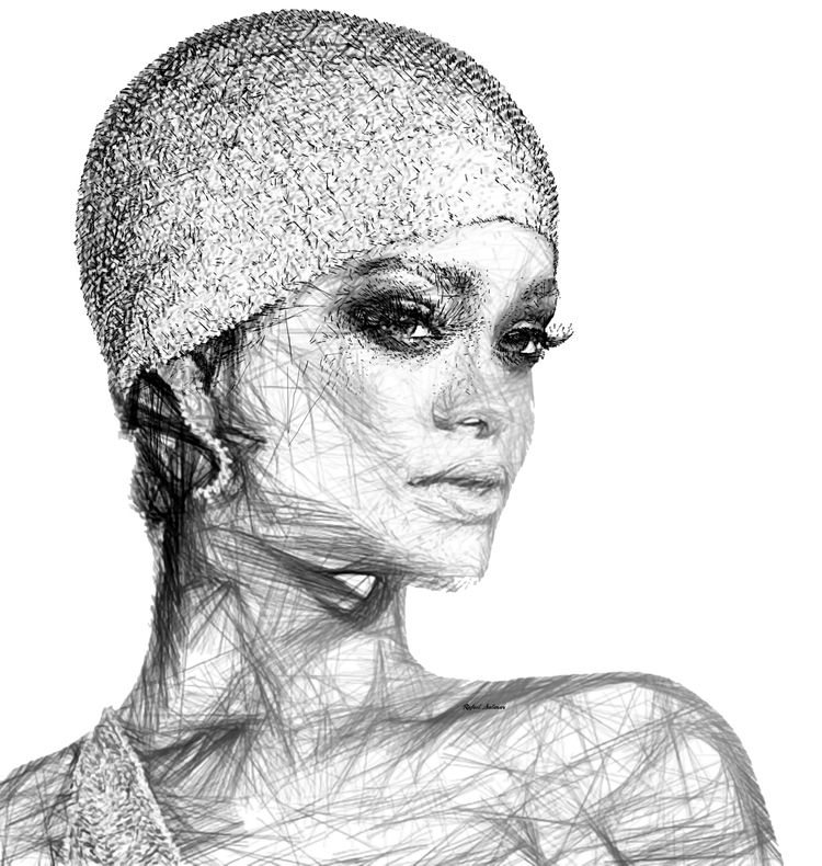 Rihanna Portrait Rafael Salazar - rafaelsalazar | ello