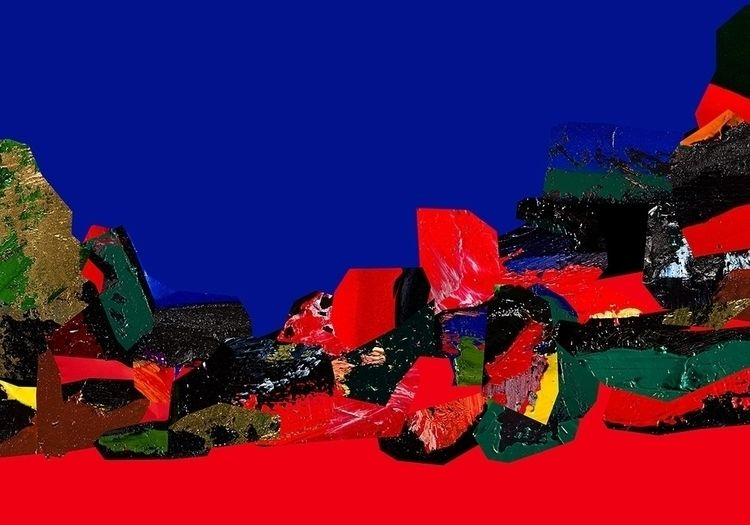 Herve Perdriel - Rouge bleu 2 - manfredistyle | ello