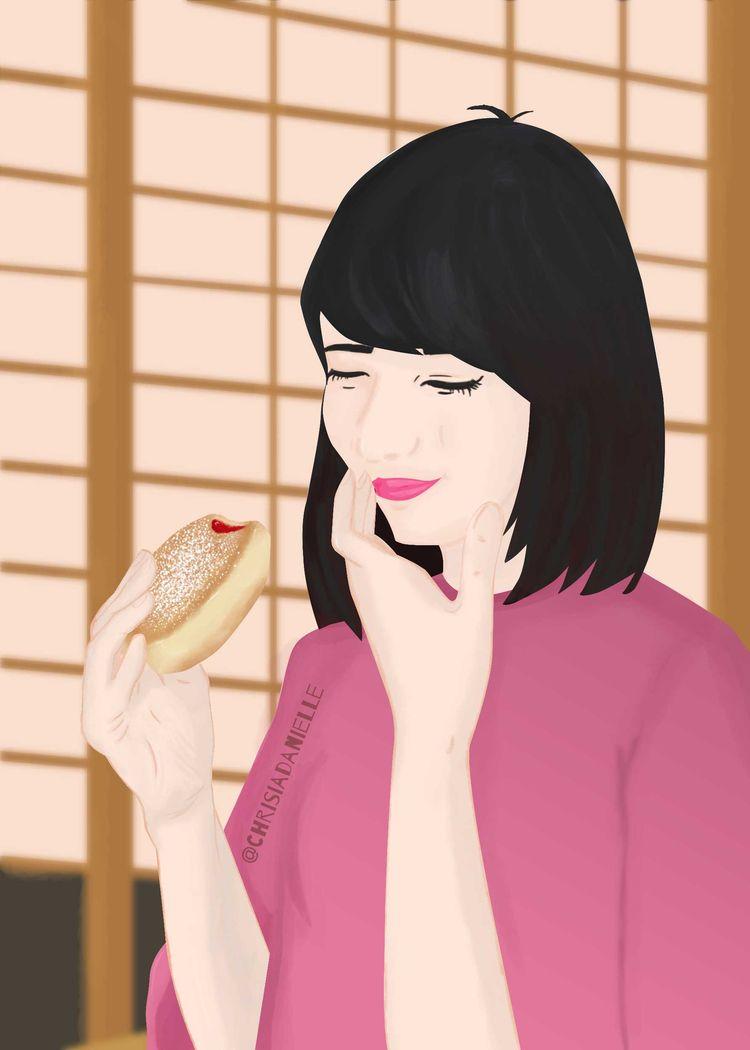 Donut Worry! happy! stressed, d - chrisiadanielle | ello