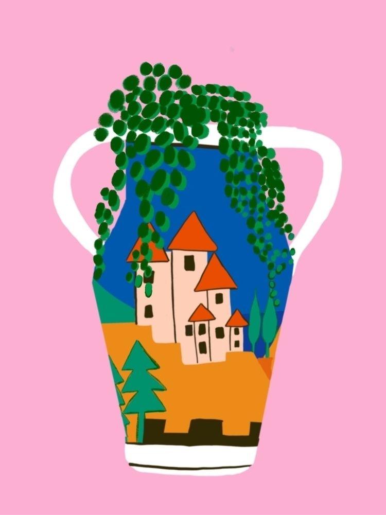 Clarice cliff beaut - illustration - bitweirdthat | ello