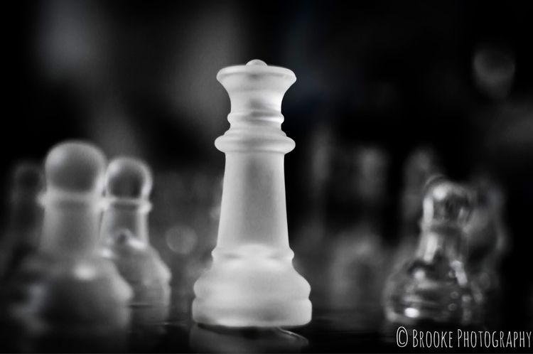 Glass Chess  - photography, blackandwhite - brookephotography444 | ello