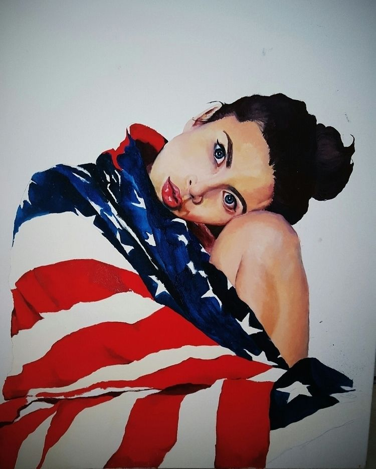 National Anthem - oil, canvas - kellycheney | ello