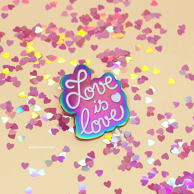 Love love Rainbow plated enamel - emmalerougeart   ello
