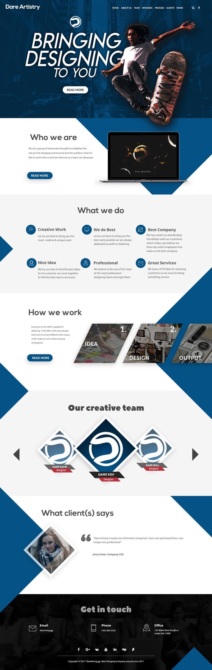 Website UI - indigoes | ello