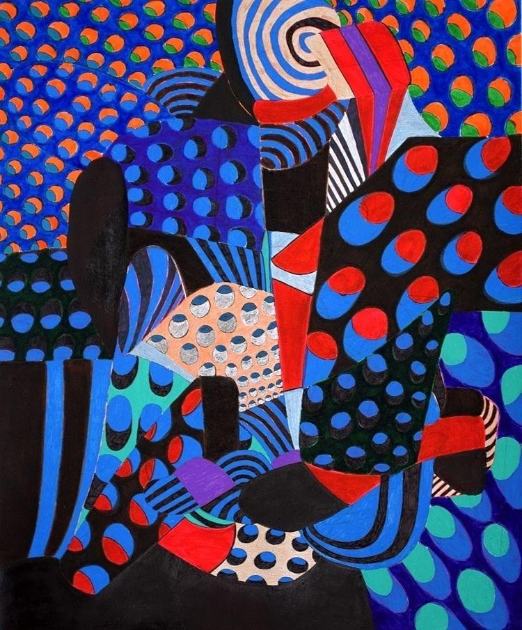 Year 2017: Abstraction 5 - Pen  - dannyartist | ello