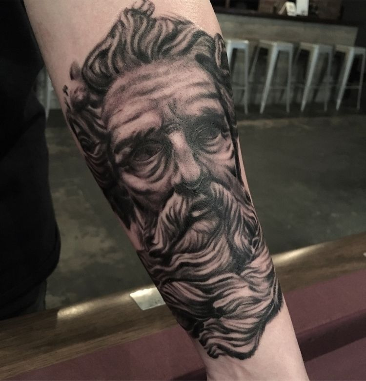 Neptune week - tattoos, blackandgreytattoo - domfloodtattoos | ello