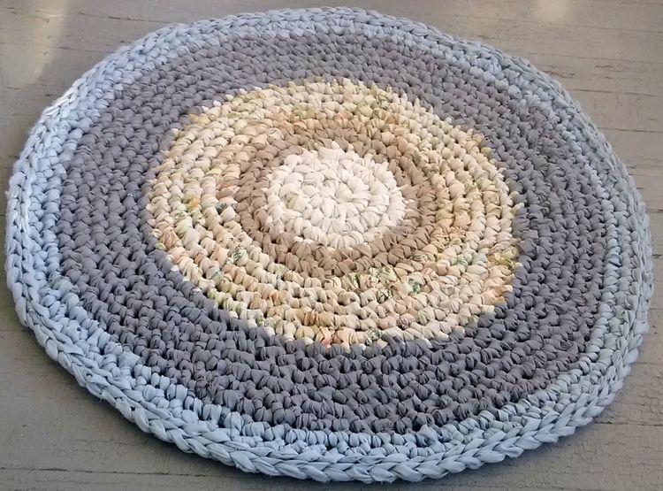 Rag Rug Handmade Crochet 33 Rec - maryherrigfiberarts   ello