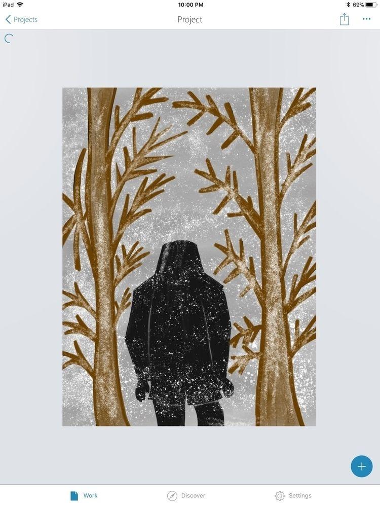 Snowy day nyc - art, cynm1013art - cynart | ello