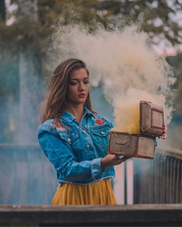 Box  - portrait, smokebombs, canon - theadventuresofmiranda | ello