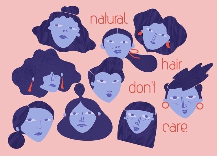 illistration, selflove, naturalhair - juliarbol | ello