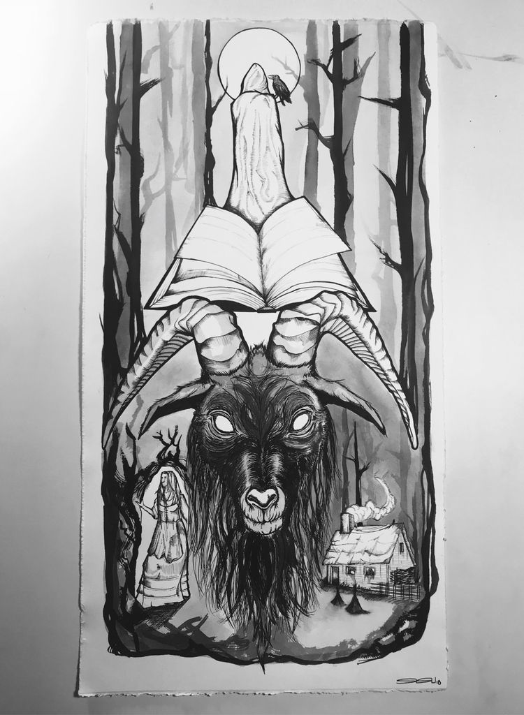Black Phillip witch - ink water - sisuillo | ello