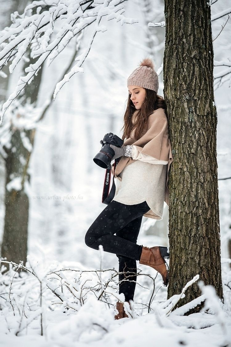 Canon girl - portrait, snow, winter - urbanphoto | ello