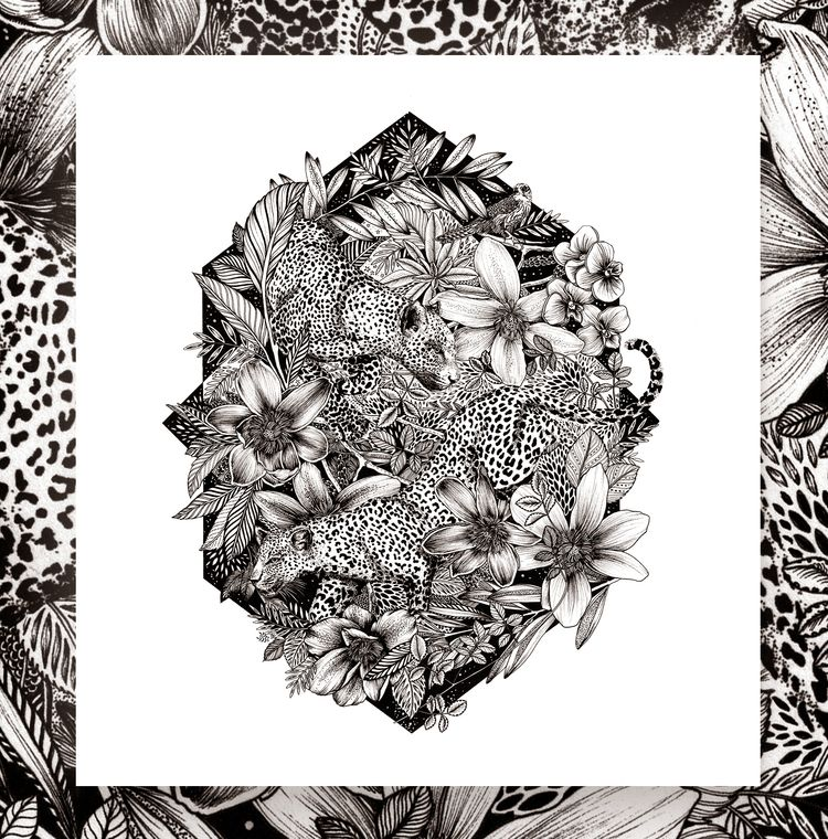 Leopards. Drawn hand - littlepatterns | ello