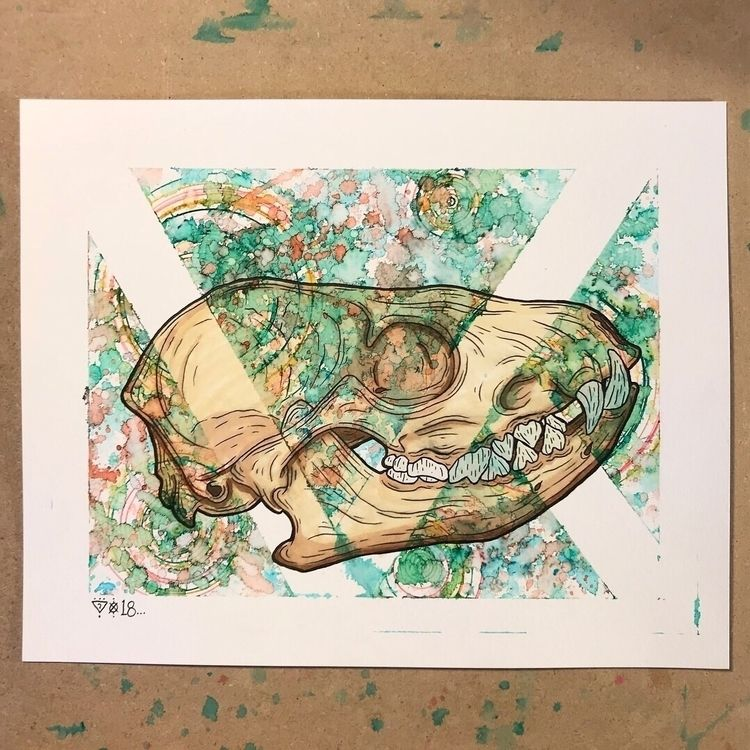 """Fox."" 8x10 Watercolor/Ink - watercolor - xoxmxsx 