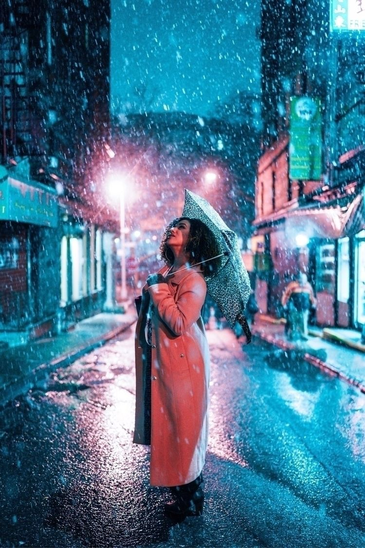 nyc, manhattan, portrait, snowfall - s_ebass | ello