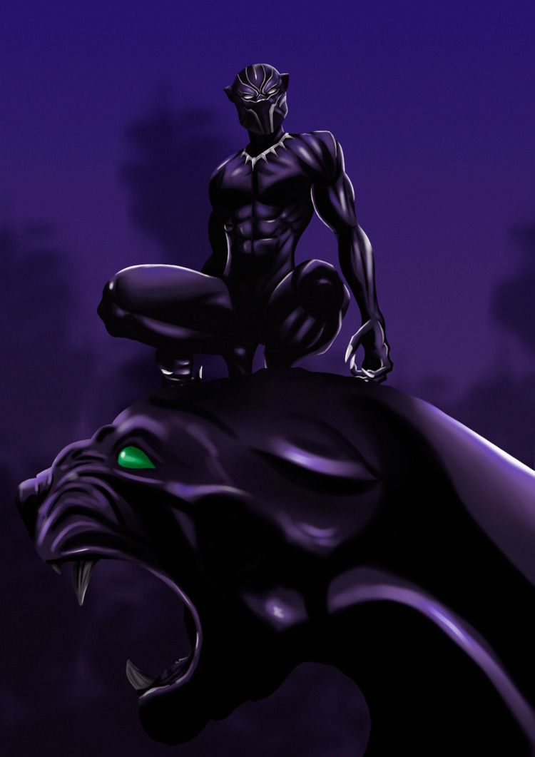 Black Panther - blackpanther, marvel - sidilustra | ello