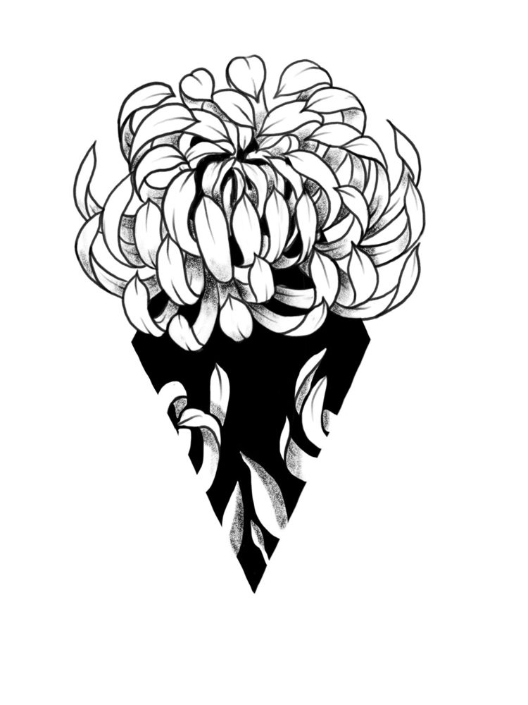 Crysanthemum - ink, dotwork, art - giselesaban_tattoo | ello