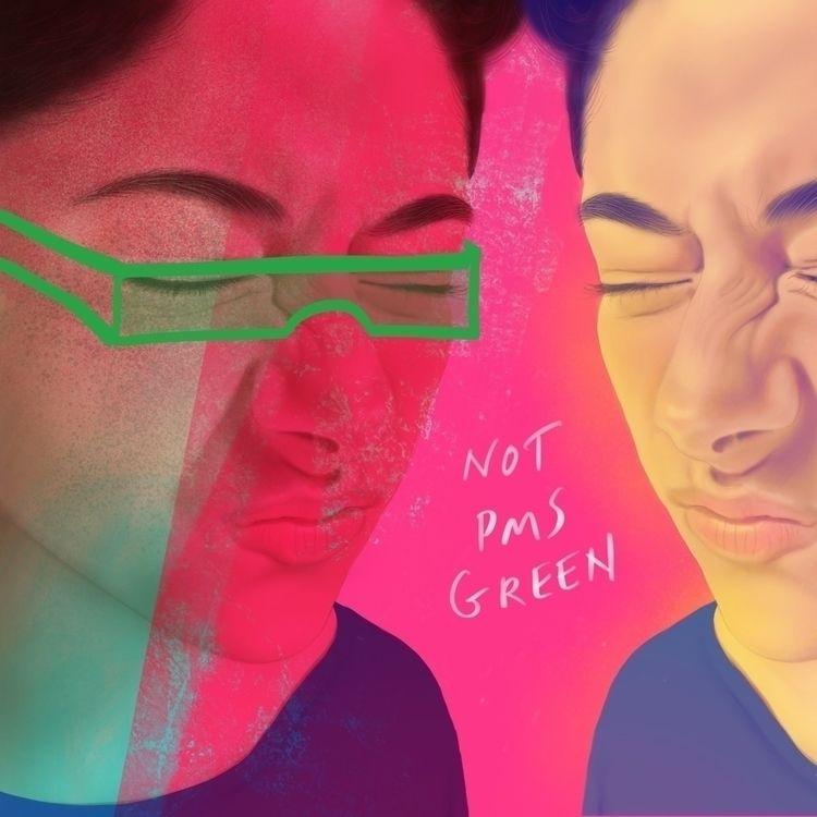 PMS Green - designer, humor, color - nanwray | ello