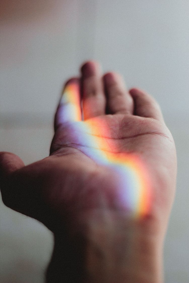 Rainbow Hand - rainbow, portrait - sergiocorzo | ello