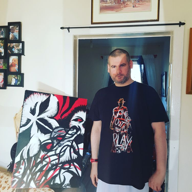 skin painting canvas acrylic - grantnicholl | ello