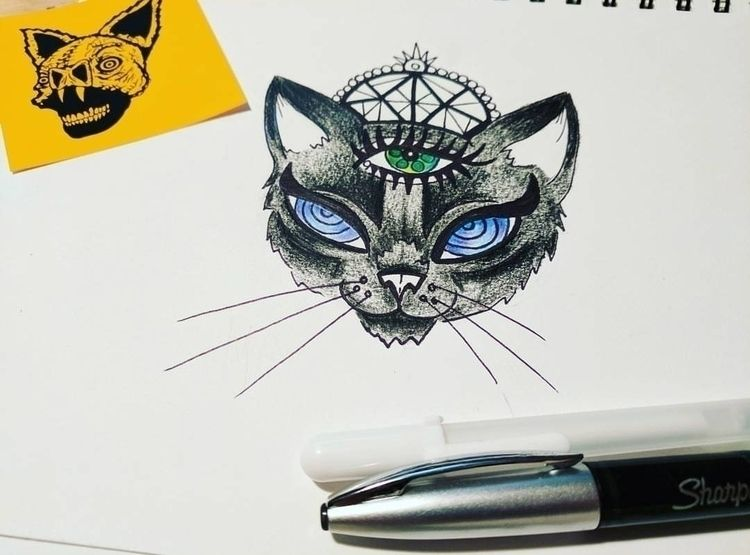 doodling cats, eye spy collab s - hellokitska | ello