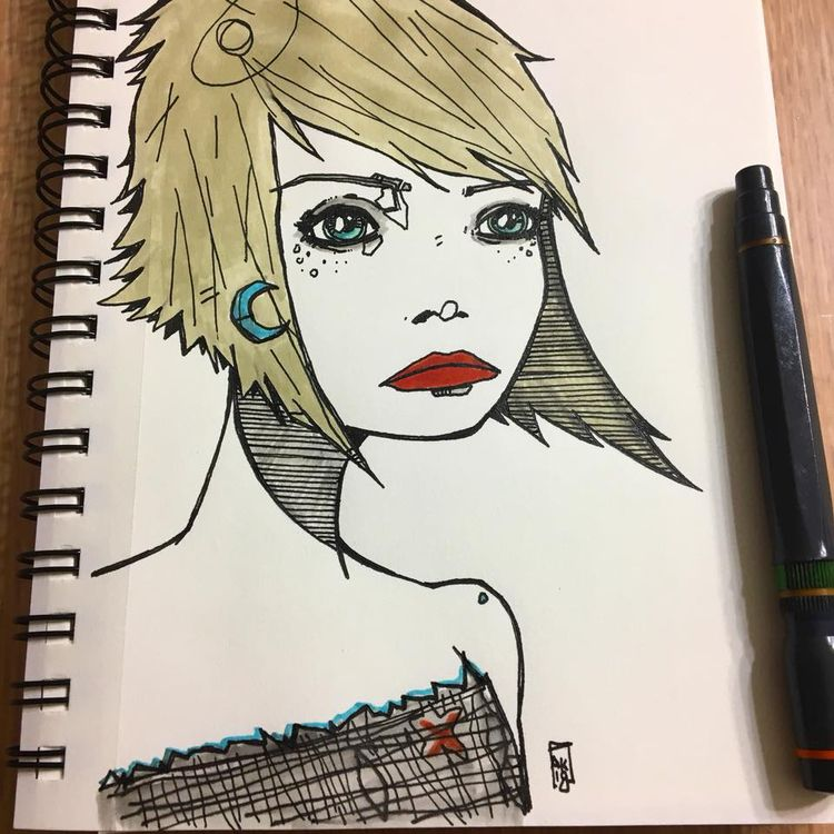 ink - drawing, illustration, sketchbook - aaronkraten | ello