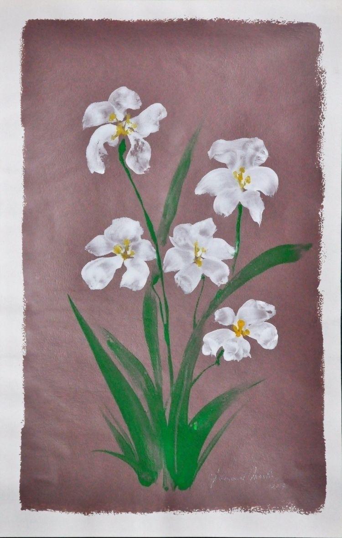 Bloemen 2017 Acryl op papier 58 - ben-peeters | ello