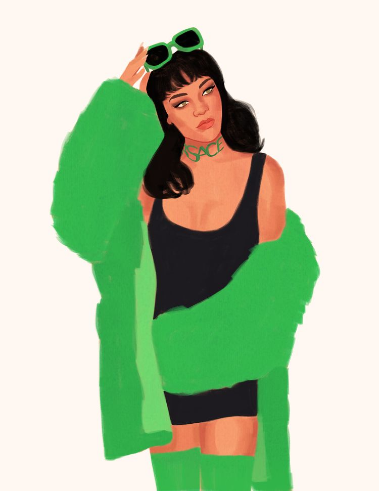 Green blue - illustration, rihanna - cariguevara | ello