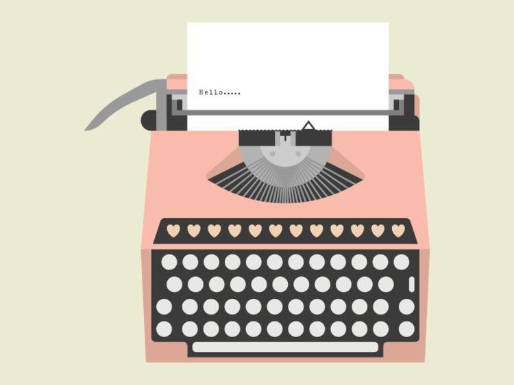 Typewriter - illustration, typewriter - tend | ello