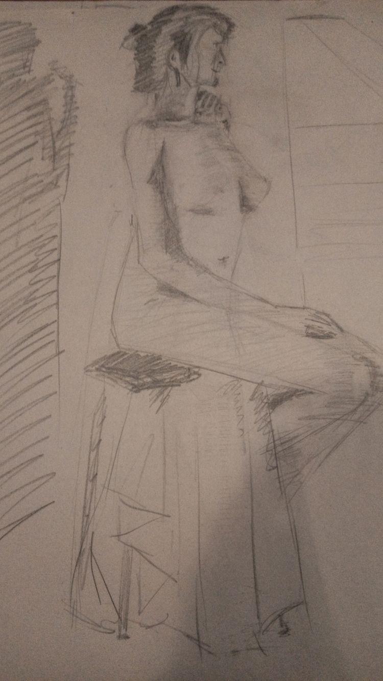 20 minute sketch - drawing,, pencil - mmeehan   ello