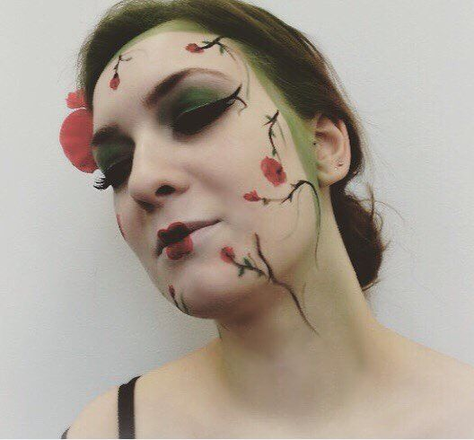 airbrush, makeup, floral, art - gracemmua | ello