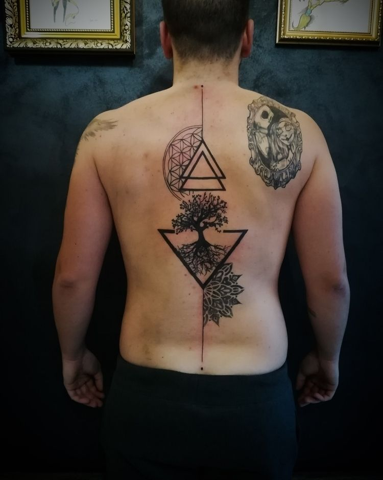Geometrical tattoo - tattoos, tat - joetattoos | ello