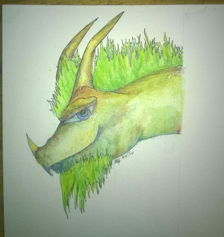 drew 'grass dragon' sorts pract - doodledude | ello
