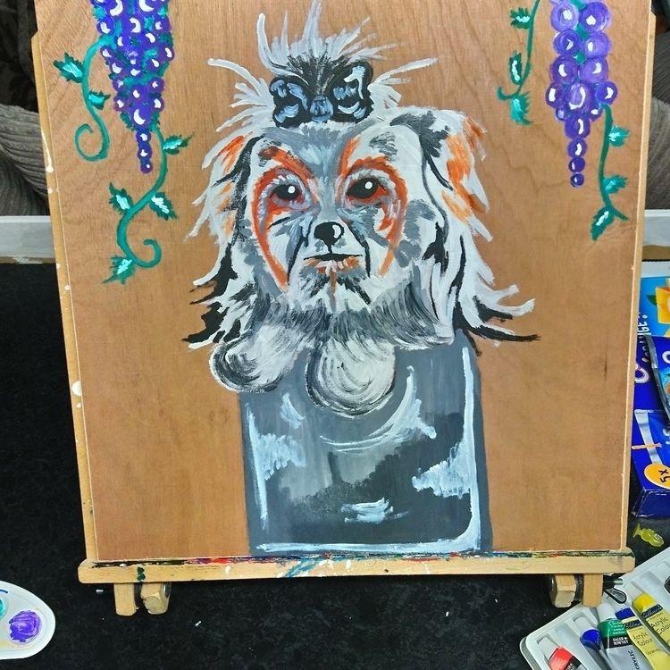 painting mums dog - unchris1 | ello