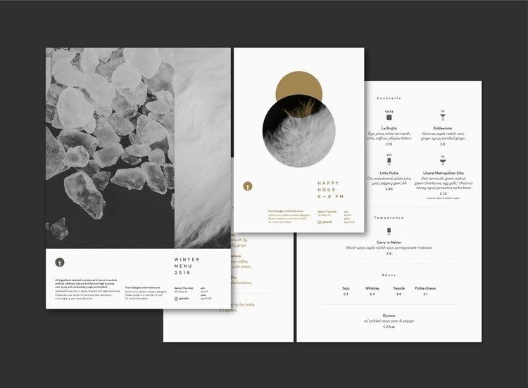 Winter Wall London - menu, GraphicDesign - shutupandance | ello