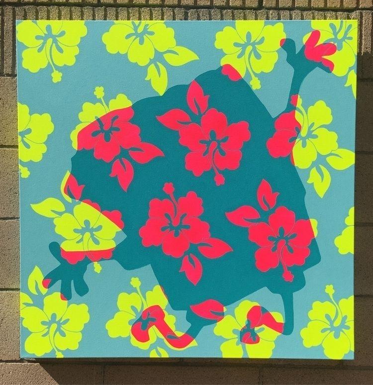 Spongebob Flower Pants • acryli - speczacular | ello