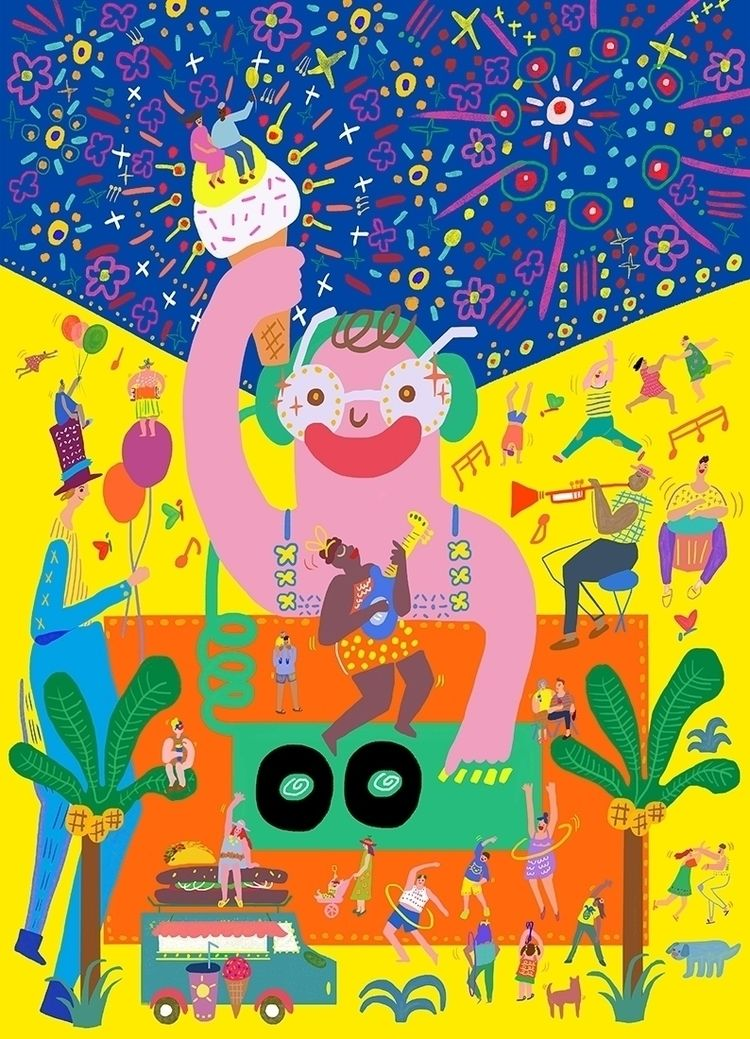 Festival Poster - artposter, festivalposter - draw_spring | ello