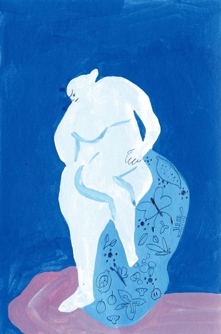 Blue room - drawing, painting, contemporaryart - draw_spring | ello