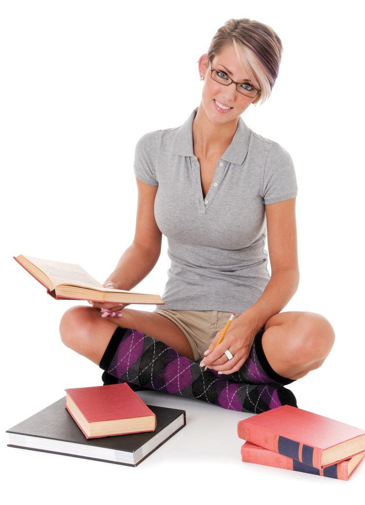Casually Dressed Woman Books - stock - maidendot   ello