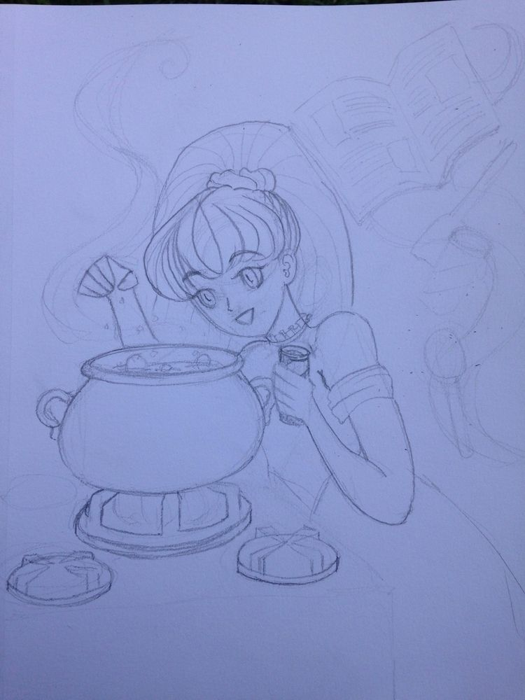 Wip Peony series - manga, linework - royalunicornofficial | ello