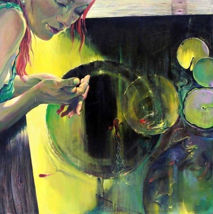 Koi Pond, Christopher Cart, oil - chriscart | ello