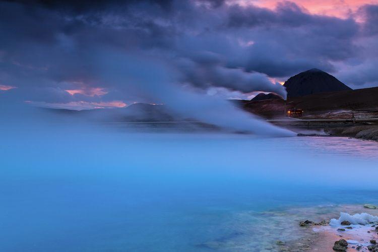 krafla, iceland, geothermal, midnightsun - tom_dimatteo | ello