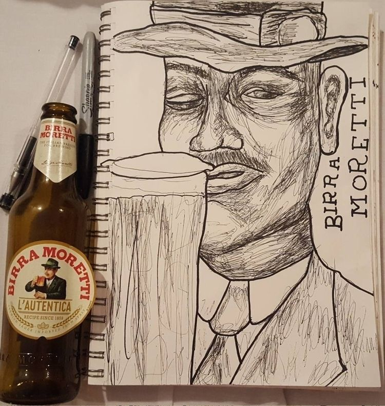 MORETTI boi - ink, drawing - poppysbookohshit | ello