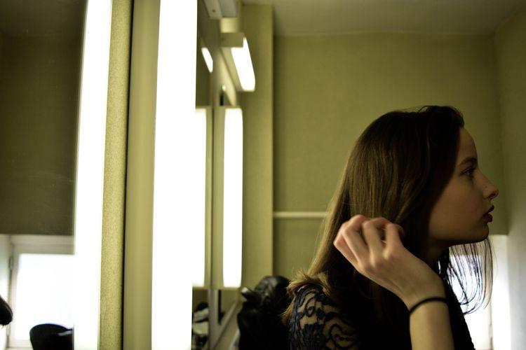 scene - portrait, girl, lights, mirrors - glauke_w_ | ello